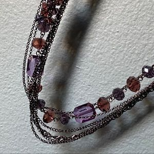 Lane Bryant necklace glass and chain